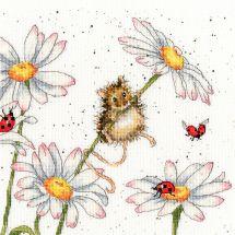 Kit point de croix - Bothy Threads - Souris et marguerites