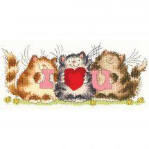 Kit point de croix - Bothy Threads - I love you
