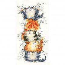 Kit point de croix - Bothy Threads - Pyramide de chats