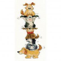 Kit point de croix - Bothy Threads - Pyramide de chiens
