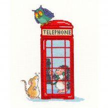 Kit point de croix - Bothy Threads - Cabine téléphonique de Londres