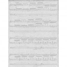 Toile en coupon - Brod'star - Coupon motif partition - 30 x 40 cm