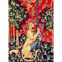 Canevas Pénélope  - Luc Créations - Le lion
