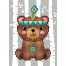 Support carton broderie Diamant - Collection d'Art - Ours