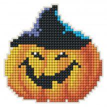 Support magnet broderie Diamant - Collection d'Art - Citrouille d'Halloween