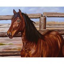 Kit de broderie Diamant - Collection d'Art - Mustang