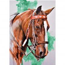 Kit de broderie Diamant - Collection d'Art - Tête de cheval