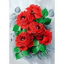 Kit de broderie Diamant - Collection d'Art - Roses élégantes