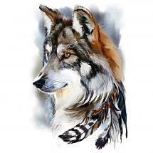 Kit de broderie Diamant - Collection d'Art - Esprit de loup