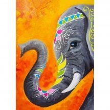 Kit de broderie Diamant - Collection d'Art - Eléphant indien