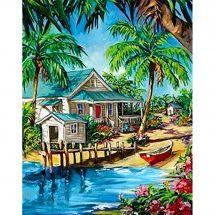 Kit de broderie Diamant - Collection d'Art - Oasis des Caraïbes
