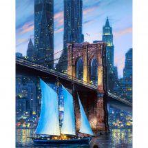 Kit de broderie Diamant - Collection d'Art - Grand pont de la ville