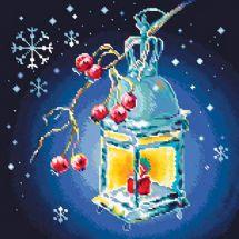 Kit de broderie Diamant - Collection d'Art - Lanterne de Noël