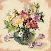 Kit de broderie Diamant - Collection d'Art - Bouquet de fleurs