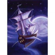 Kit de broderie Diamant - Collection d'Art - Navire fantôme