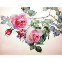 Kit de broderie Diamant - Collection d'Art - Branche de roses