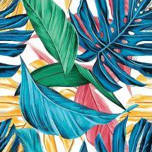 Kit de broderie Diamant - Collection d'Art - Feuilles tropicales
