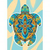 Kit de broderie Diamant - Collection d'Art - Tortue colorée