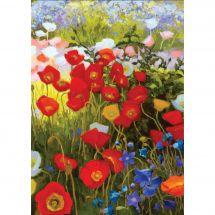 Kit de broderie Diamant - Collection d'Art - Tapis de fleurs