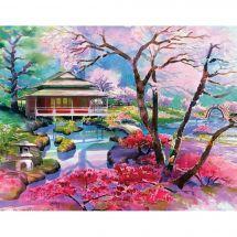 Kit de broderie Diamant - Collection d'Art - Cerisiers colorés