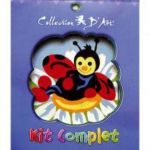 Kit de canevas pour enfant - Collection d'Art - La coccinelle