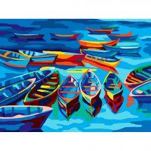 Canevas Pénélope  - Collection d'Art - Les barques