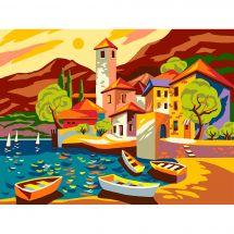 Canevas Pénélope  - Collection d'Art - Le petit port