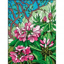 Canevas Pénélope  - Collection d'Art - Rhododendron