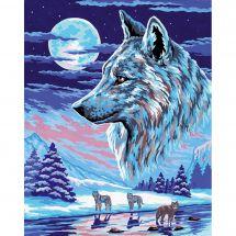 Canevas Pénélope  - Collection d'Art - La meute de loups