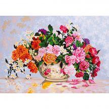 Canevas Pénélope  - Collection d'Art - Vase de fleurs