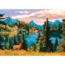 Canevas Pénélope  - Collection d'Art - Forêt bordant le lac