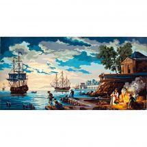 Canevas Pénélope  - Collection d'Art - Port antique