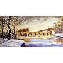Canevas Pénélope  - Collection d'Art - Pont en hiver
