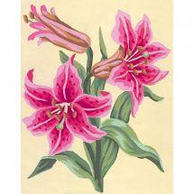 Canevas Pénélope  - Collection d'Art - Lys roses