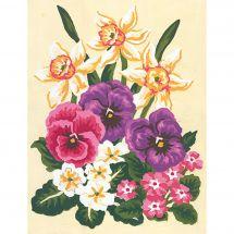 Canevas Pénélope  - Collection d'Art - Fleurs de printemps