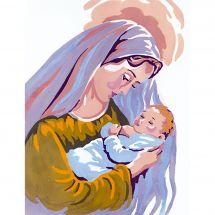 Canevas Pénélope  - Collection d'Art - La vierge et l'enfant