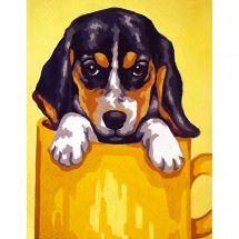 Canevas Pénélope  - Collection d'Art - Chiot beagle