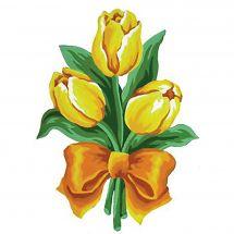 Canevas Pénélope  - Collection d'Art - Tulipes jaunes