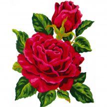 Canevas Pénélope  - Collection d'Art - Rose rouge