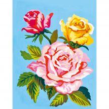 Canevas Pénélope  - Collection d'Art - Roses