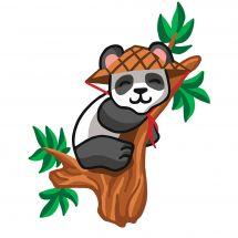 Canevas Pénélope  - Collection d'Art - Sieste du panda