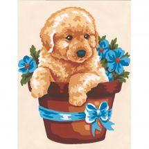 Kit de canevas pour enfant - Collection d'Art - Chapeau du chien