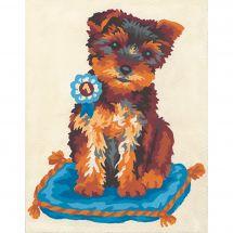 Kit de canevas pour enfant - Collection d'Art - Coussin du chien