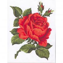 Kit de canevas pour enfant - Collection d'Art - Rose rouge
