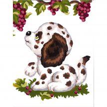 Kit de canevas pour enfant - Collection d'Art - Chiot