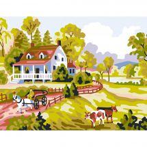 Kit de canevas pour enfant - Collection d'Art - La ferme