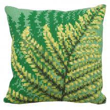Kit de coussin gros trous - Collection d'Art - Fougères vertes
