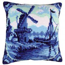 Kit de coussin gros trous - Collection d'Art - Faïence de Delft