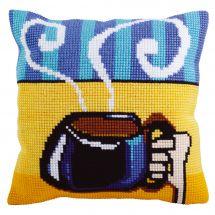 Kit de coussin gros trous - Collection d'Art - Tasse de café