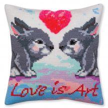 Kit de coussin gros trous - Collection d'Art - L'amour c'est de l'art